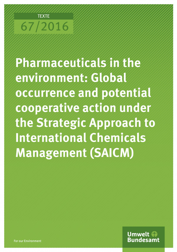 Pharmaceuticals in the environment: Global occurrence and potential cooperative action under the Strategic Approach to International Chemicals Management (SAICM)