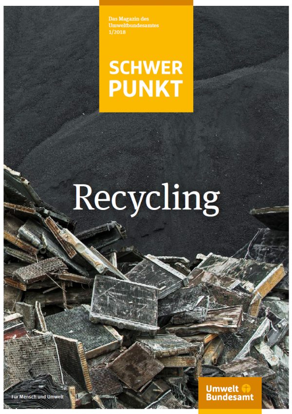 Cover der Publikation Schwerpunkt: Recycling