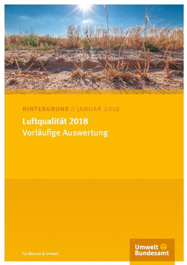 Cover der Publikation Luftqualität 2018