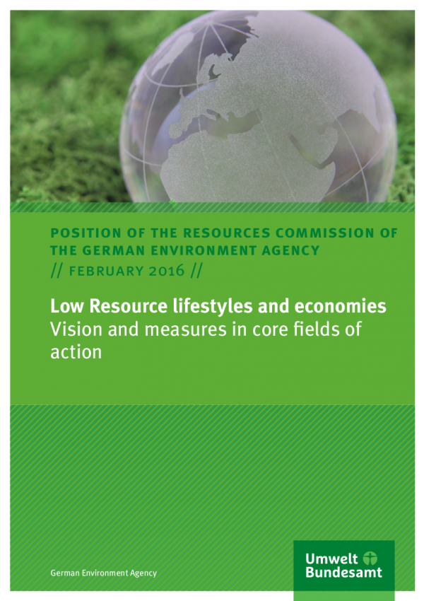 Cover Low Resource lifestyles and economies