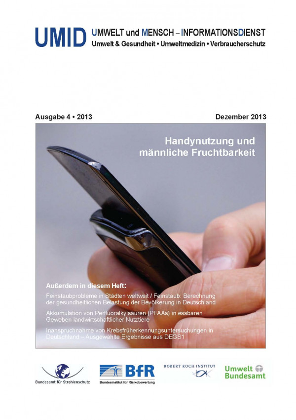 Titelbild UMID 04/2013 zeigt ein Mobiltelefon