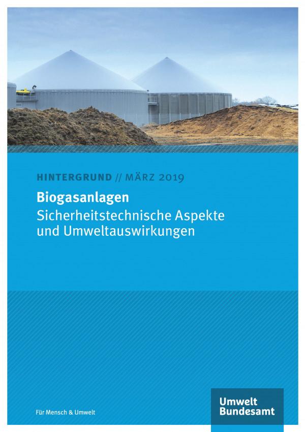 Cover des Hintergrundpapiers Biogasanlagen