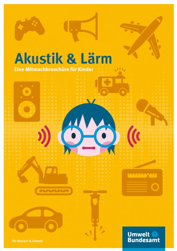 Cover mit Comiczeichnung eines Kinderkopfes mit Brille, der von lärmenden Gegenständen wie Krankenwagen, Radio oder Lautsprecher umgeben ist