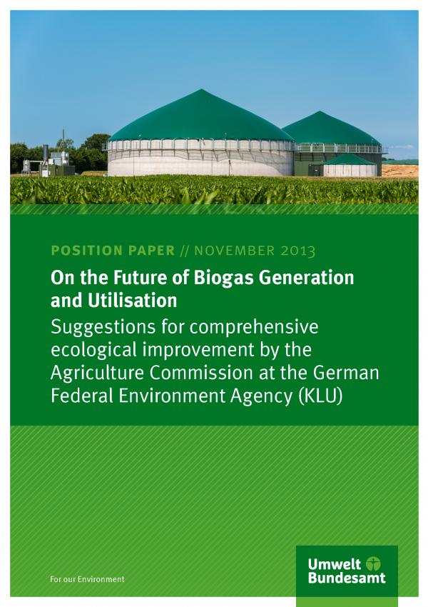 biogas plant and cornfield