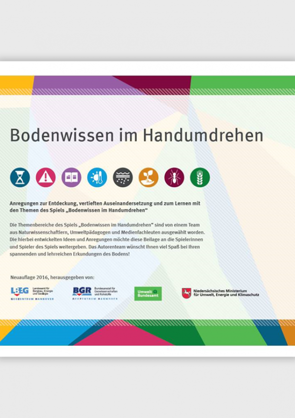 """Cover vom pädagogischen Begleitheft für """"Bodenwissen im Handumdehen"""""""