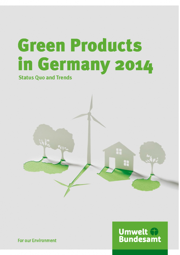 "Cover of the brochure ""Green Products in Germany 2014 - Status Quo and Trends"""