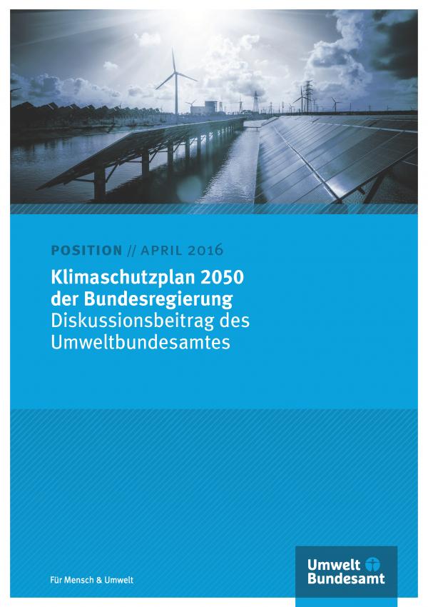 Cover UBA-Position zum Klimaschutzplan 2050