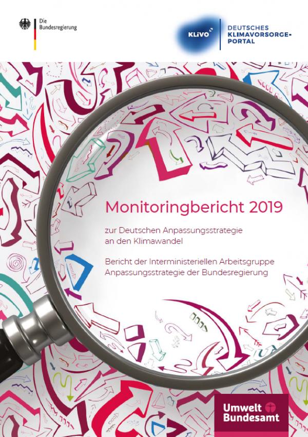 "Broschüren-Titelseite ""Monitoringbericht 2019"""