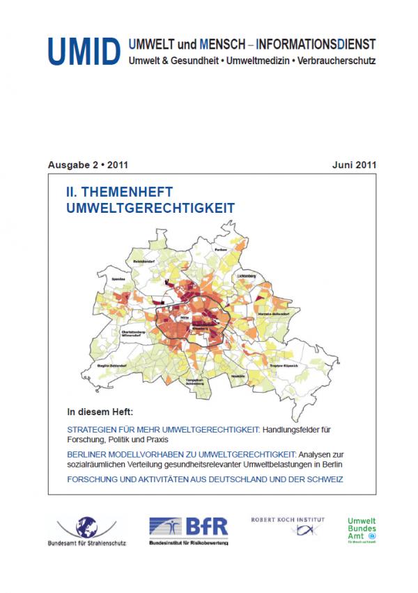 Cover des UMID 2/2011 mit einer Stadtkarte von Berlin
