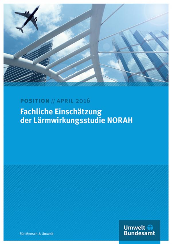 Cover des Positionspapiers: Fachliche Einschätzung der Lärmwirkungsstudie NORAH