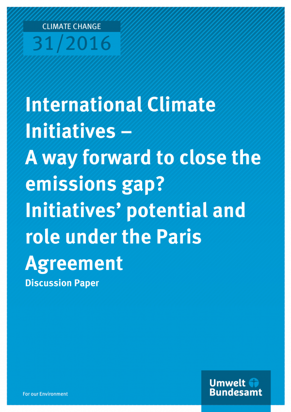 Cover der Publikation: International Climate Initiatives