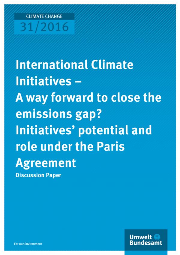 Cover der Publikation: International Climate Initiatives