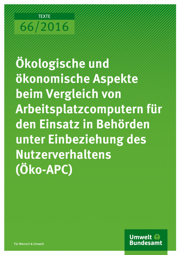 Cover des Endberichts Öko-APC