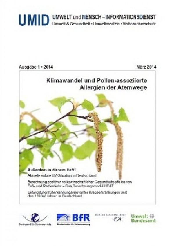 Cover der Zeitschrift UMID 01/2014 zeigt eine blühende Birke, passend zum Allergie-Thema
