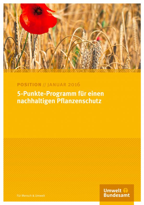 Cover 5-Punkte-Programm für einen nachhaltigen Pflanzenschutz
