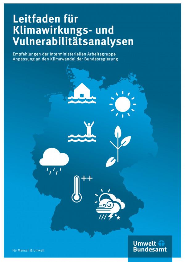 Grafische Darstellung einer Deutschlandkarte mit verschiedenen, weißen Icons darauf