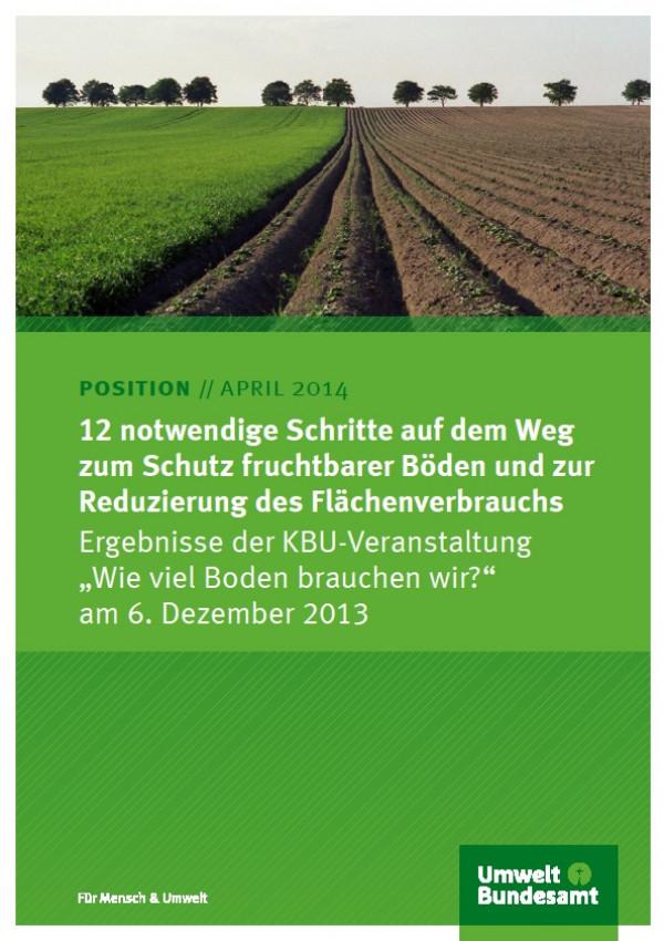 Cover 12 notwendige Schritte auf dem Weg zum Schutz fruchtbarer Böden