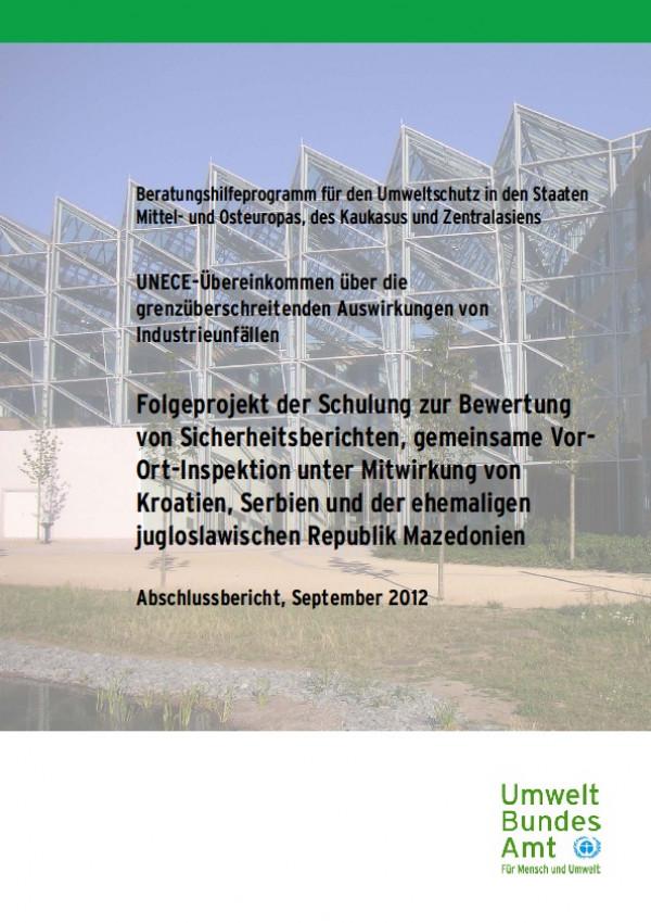 Cover Folgeprojekt der Schulung zur Bewertung von Sicherheitsberichten