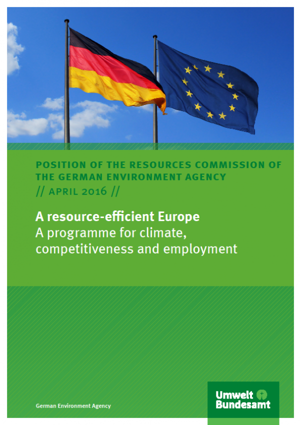 Cover A resource-efficient Europe