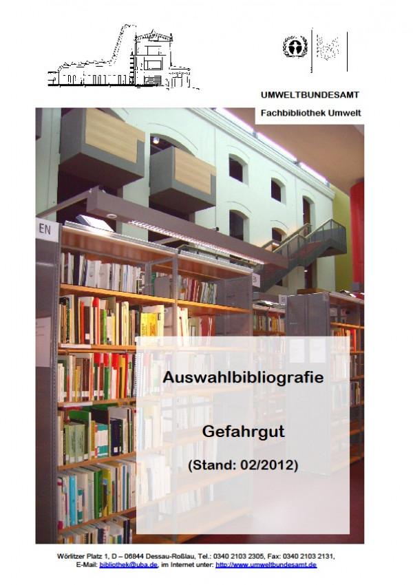 Cover Auswahlbibliografie Gefahrgut