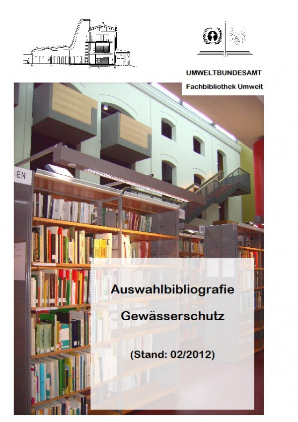 Cover Auswahlbibliografie Gewässerschutz