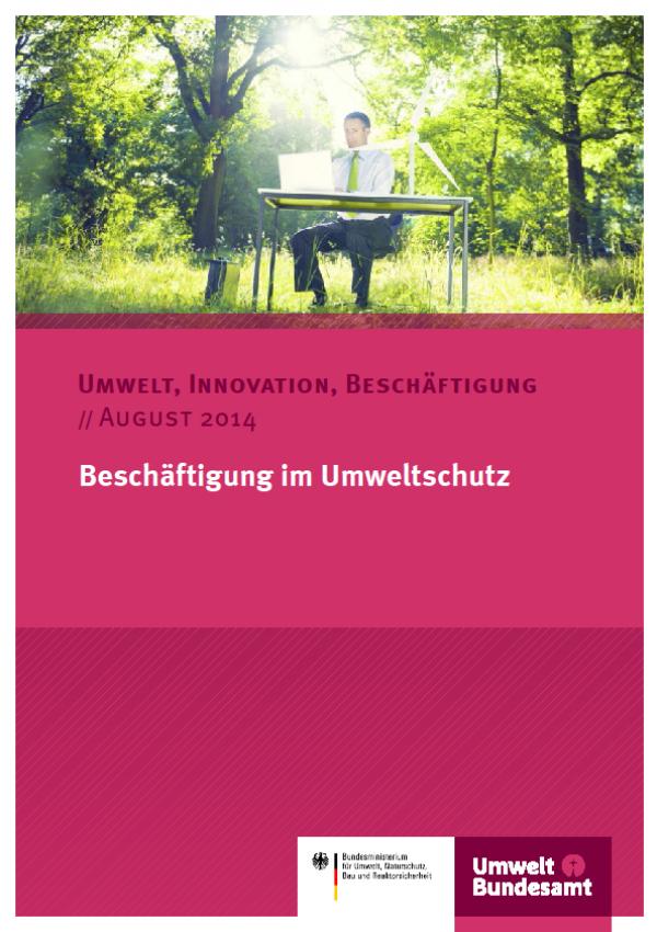 Cover Beschäftigung im Umweltschutz