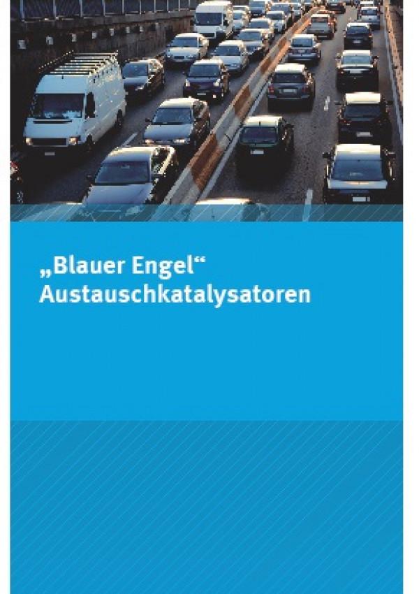 """Cover Flyer """"Blauer Engel"""" Austauschkatalysatoren"""