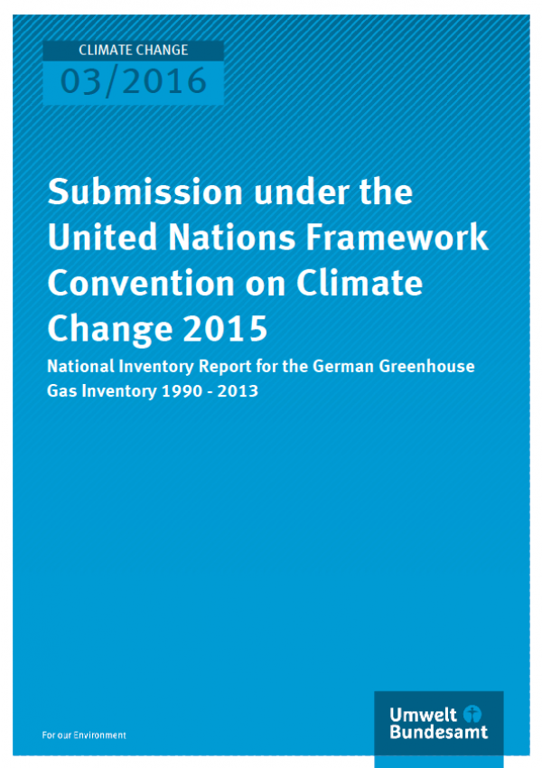 Cover Climate Change 03/2016 Submission under the United Nations Framework Convention on Climate Change 2015