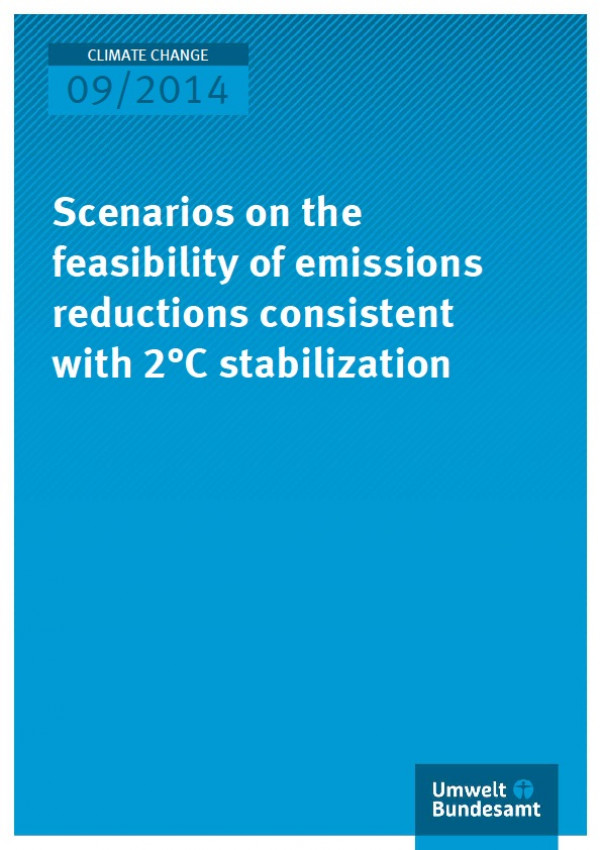 Cover Climate Change 09/2014 Scenarios on the feasibility of emissions reductions consistent with 2°C stabilization