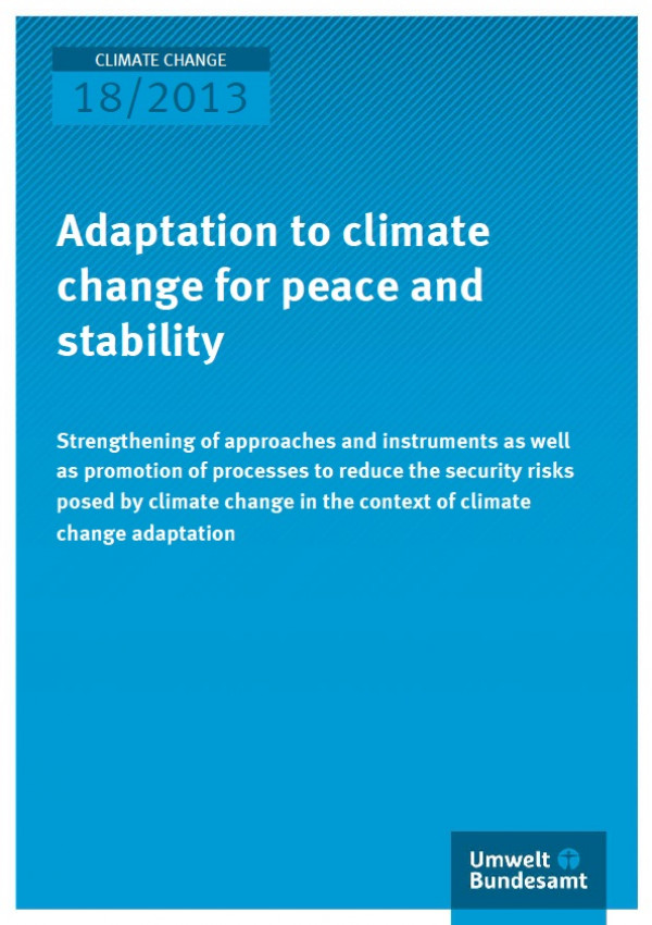 Adaptation to climate change for peace and stability ...