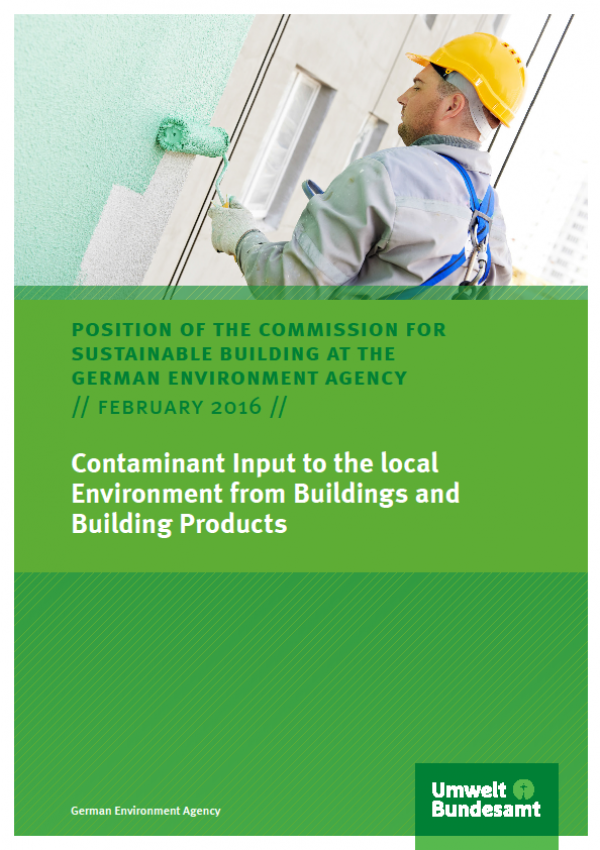 Cover Contaminant Input to the local Environment from Buildings and Building Products