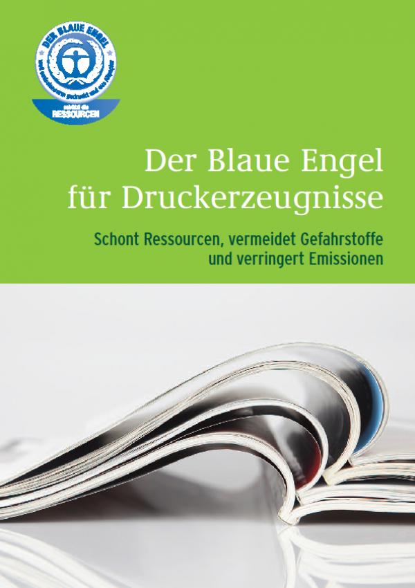 Cover Der Blaue Engel für Druckerzeugnisse