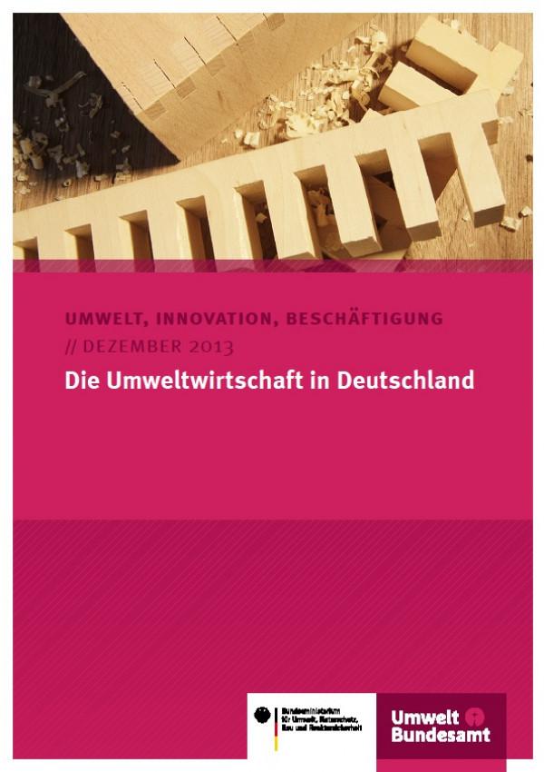Cover Die Umweltwirtschaft in Deutschland