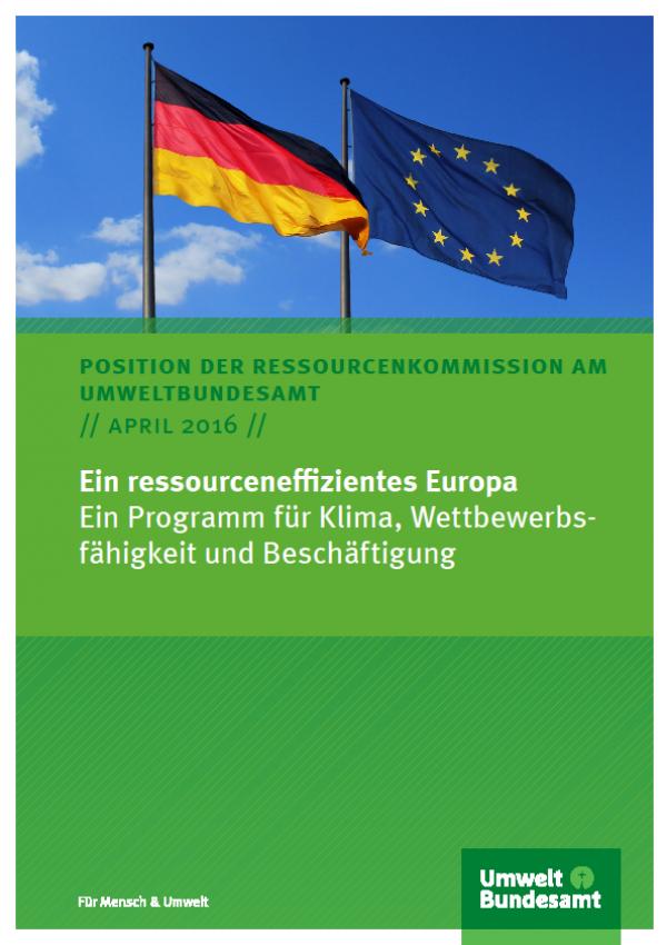 Cover Ein ressourceneffizientes Europa