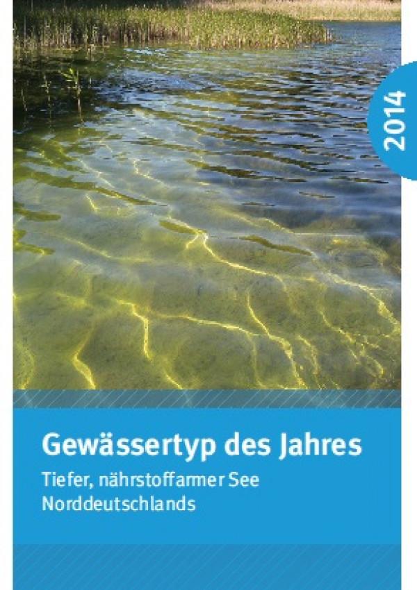 Cover Flyer Gewässertyp des Jahres 2014