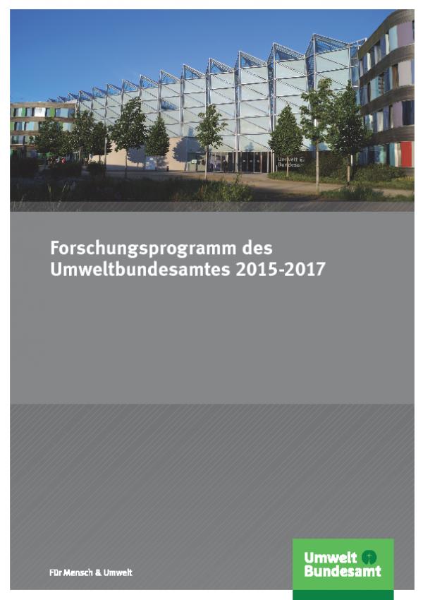 Cover Forschungsprogramm 2015-2017