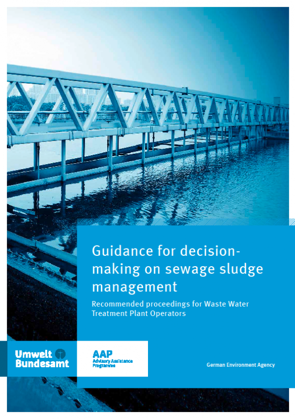 Cover Guidance for decision  making on sewage sludge management