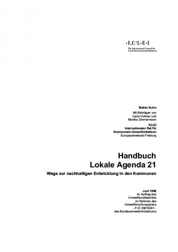 Cover Handbuch Lokale Agenda 21