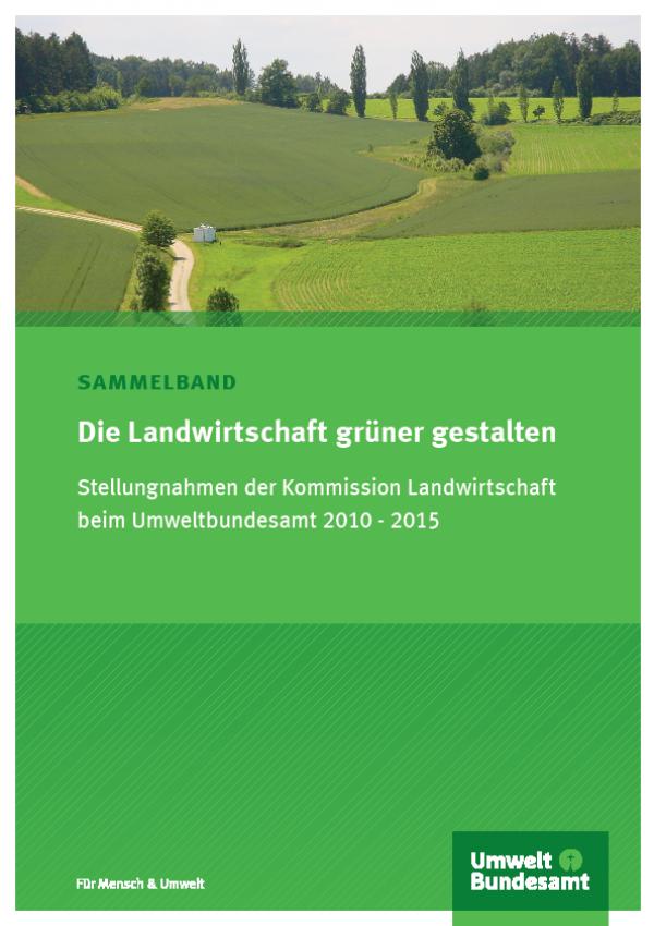 Cover Die Landwirtschaft grüner gestalten