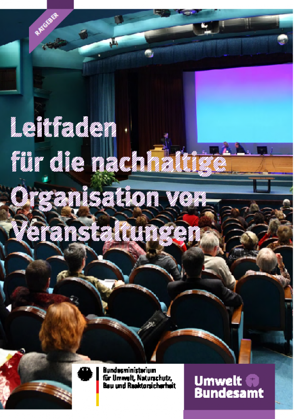 Cover Leitfaden für die nachhaltige Organisation von Veranstaltungen