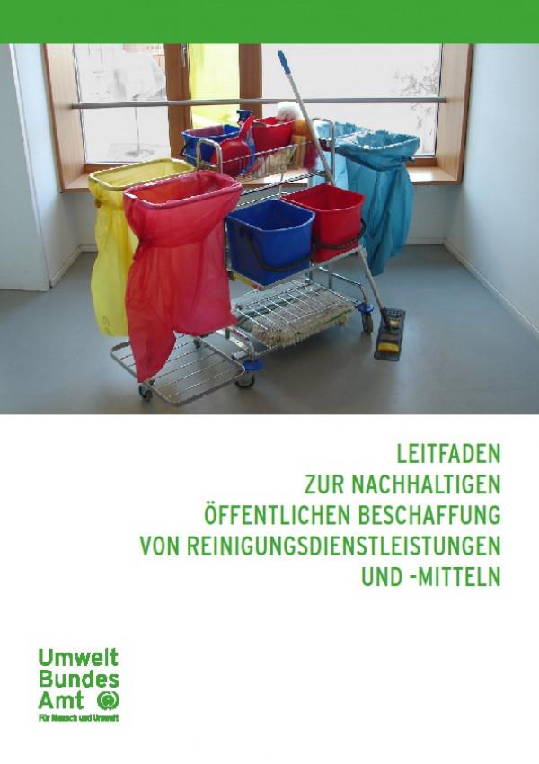Cover Leitfaden zur nachhaltigen öffentlichen Beschaffung von Reinigungsdienstleistungen und -mitteln
