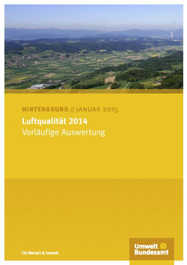 Cover Luftqualität 2014