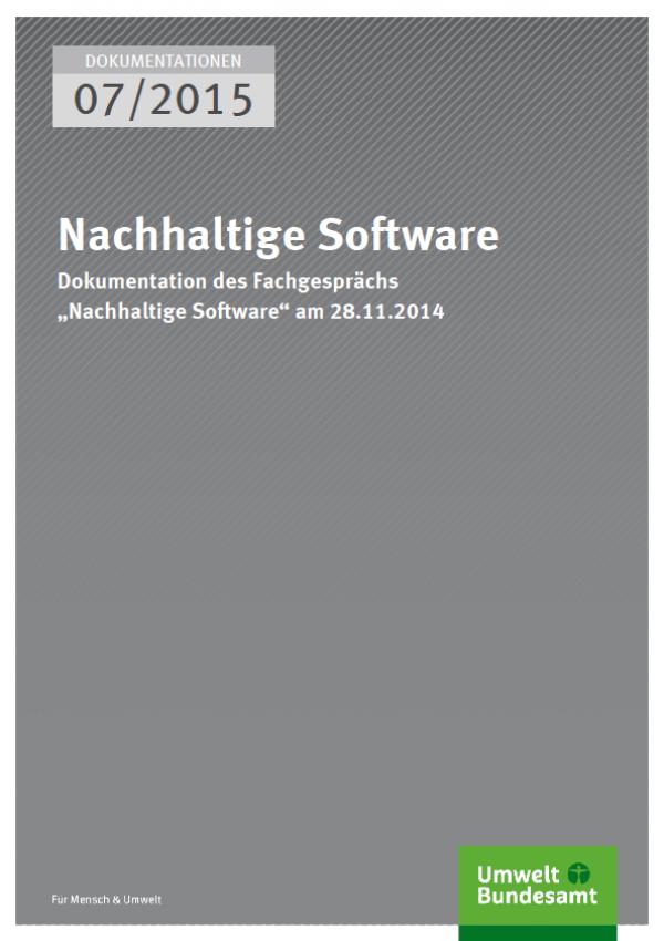 Cover Nachhaltige Software