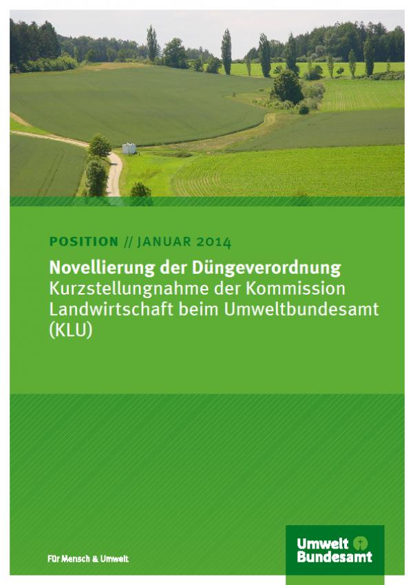 Cover Novellierung der Düngeverordnung