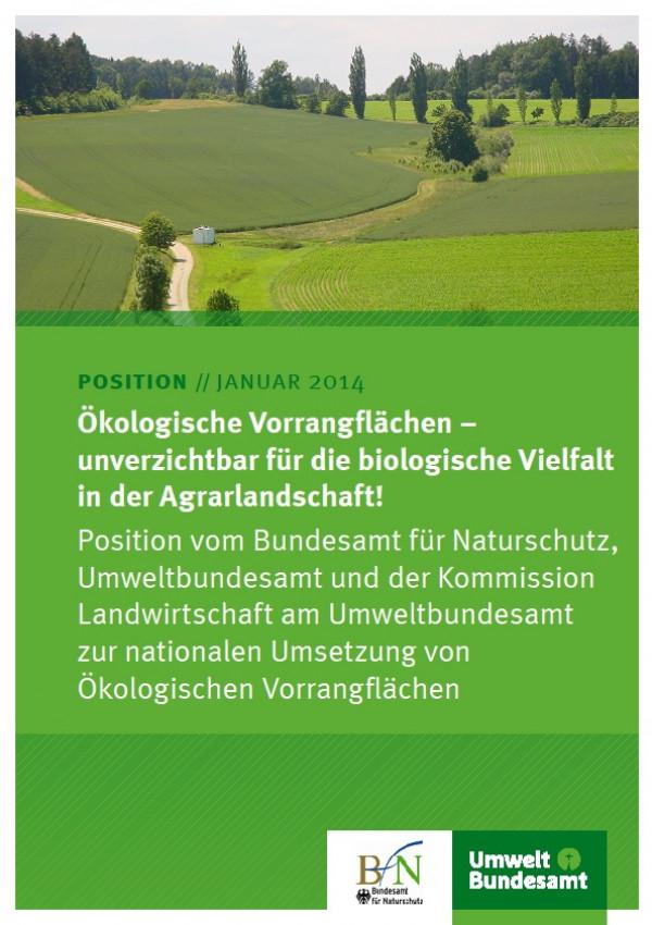 Ökologische Vorrangflächen - unverzichtbar für die biologische Vielfalt in der Agrarlandschaft!