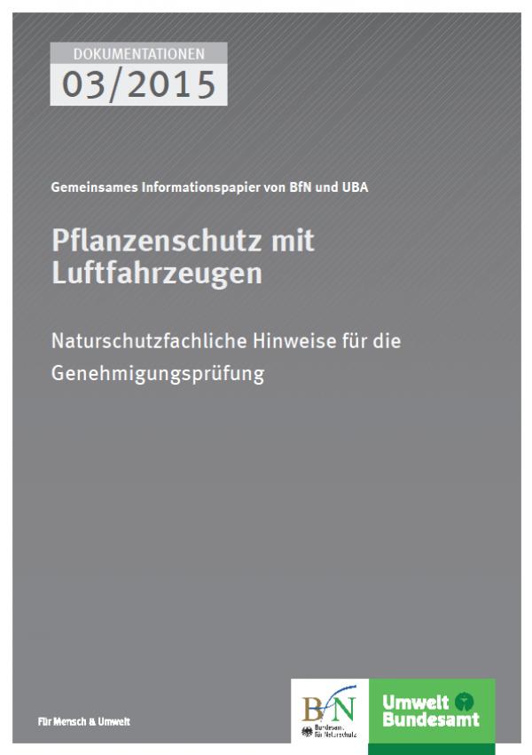 Cover Pflanzenschutz mit Luftfahrzeugen