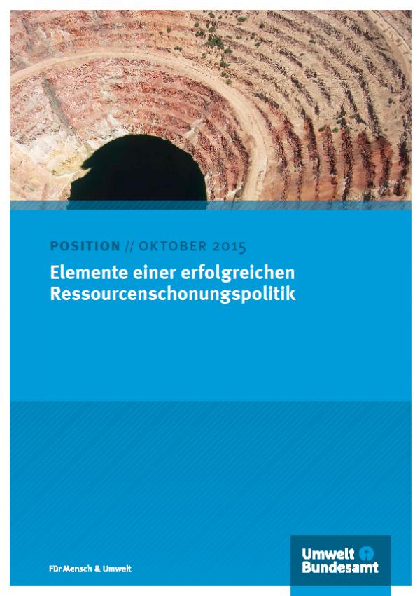 Elemente einer erfolgreichen Ressourcenschonungspolitik