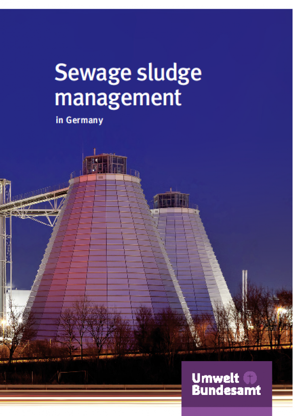 Cover Sewage sludge management in Germany