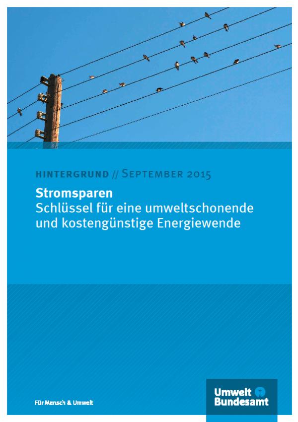 Cover Hintergrundpapier Stromsparen