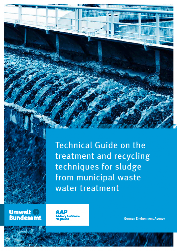 Cover Technical Guide on treatment and recycling techniques for sludge from municipal waste water treatment